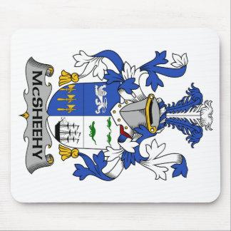 Escudo de la familia de McSheehy Alfombrilla De Ratones