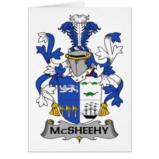 Escudo de la familia de McSheehy Tarjeta De Felicitación