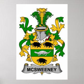 Escudo de la familia de McSweeney Impresiones