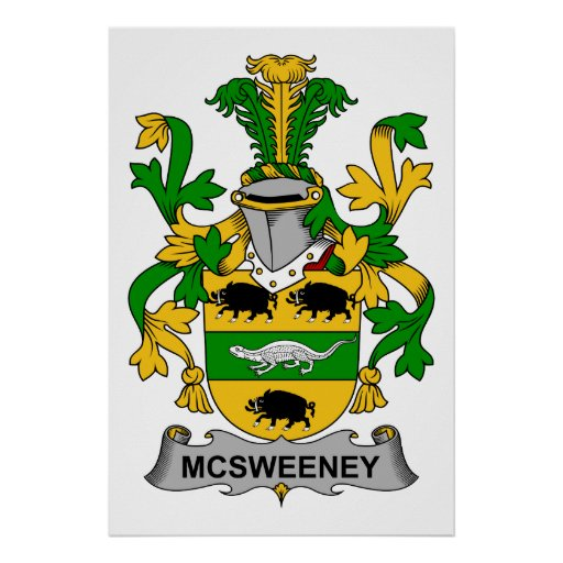 Escudo de la familia de McSweeney Póster
