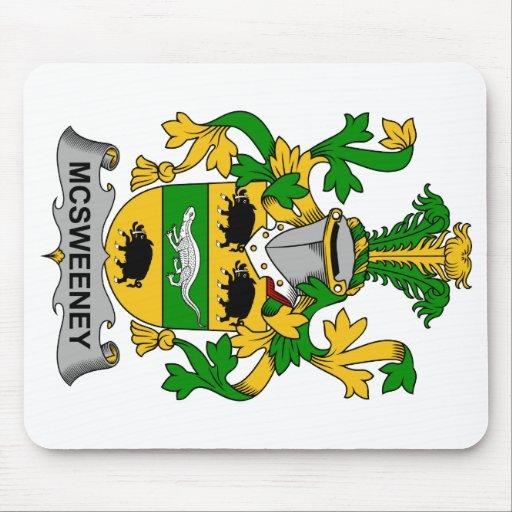 Escudo de la familia de McSweeney Tapete De Ratones
