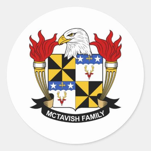 Escudo de la familia de McTavish Etiqueta Redonda