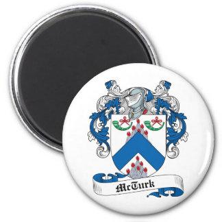 Escudo de la familia de McTurk Imán Redondo 5 Cm