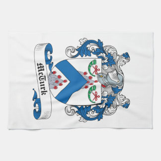 Escudo de la familia de McTurk Toalla De Cocina