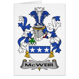 Escudo de la familia de McWeir Tarjeta De Felicitación