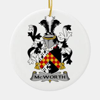 Escudo de la familia de McWorth Ornamento De Navidad