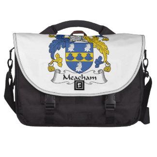 Escudo de la familia de Meacham Bolsas De Ordenador