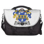 Escudo de la familia de Meacham Bolsas Para Portatil