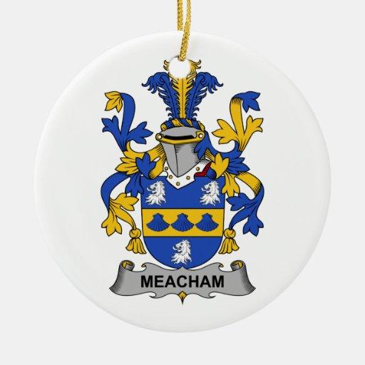 Escudo de la familia de Meacham Ornamento De Reyes Magos