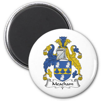 Escudo de la familia de Meacham Imán Redondo 5 Cm