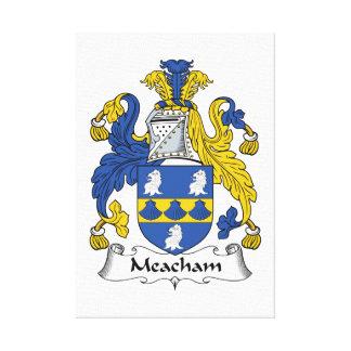 Escudo de la familia de Meacham Impresión En Lona