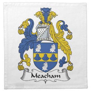 Escudo de la familia de Meacham Servilleta