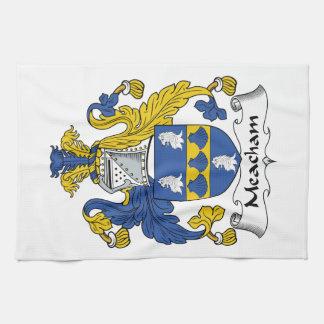 Escudo de la familia de Meacham Toallas De Cocina
