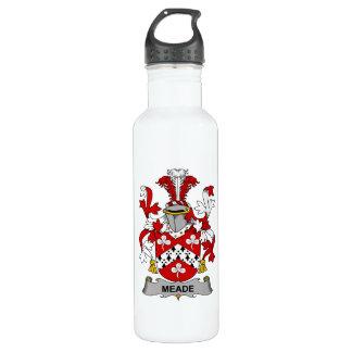 Escudo de la familia de Meade Botella De Agua