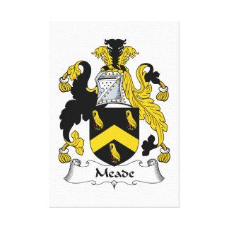 Escudo de la familia de Meade Lienzo Envuelto Para Galerías