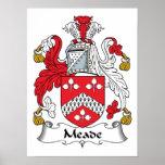 Escudo de la familia de Meade Posters