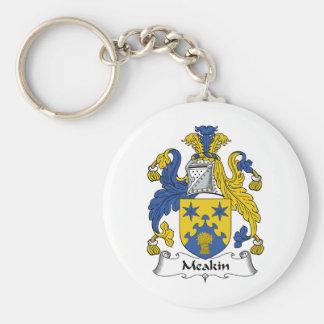 Escudo de la familia de Meakin Llavero Redondo Tipo Pin