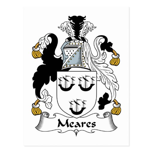 Escudo de la familia de Meares Postal