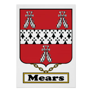 Escudo de la familia de Mears Póster