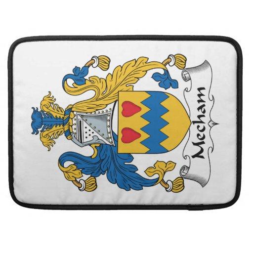 Escudo de la familia de Mecham Fundas Para Macbooks