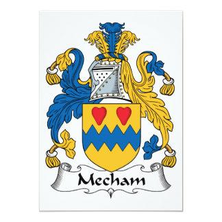 """Escudo de la familia de Mecham Invitación 5"""" X 7"""""""