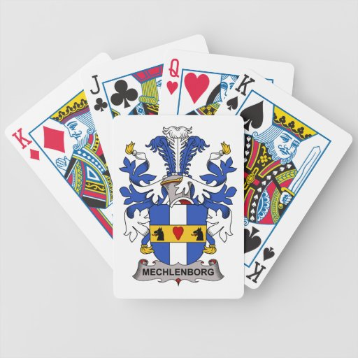 Escudo de la familia de Mechlenborg Barajas De Cartas