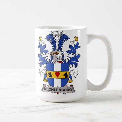 Escudo de la familia de Mechlenborg Taza De Café