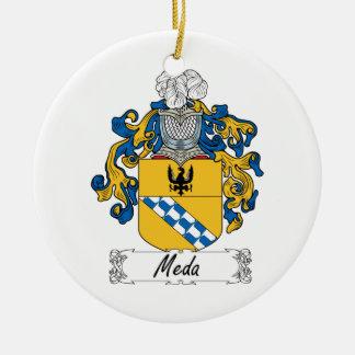 Escudo de la familia de MEDA Adorno Navideño Redondo De Cerámica