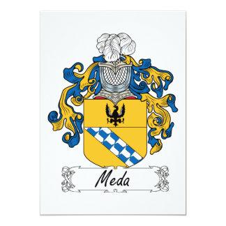 """Escudo de la familia de MEDA Invitación 5"""" X 7"""""""