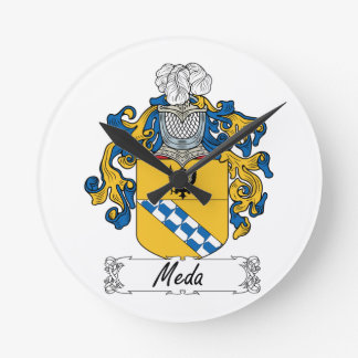 Escudo de la familia de MEDA Reloj Redondo Mediano