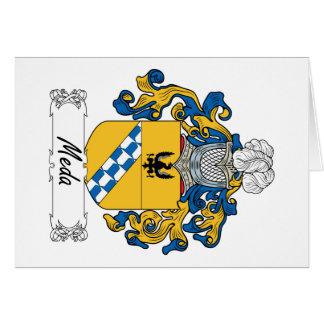 Escudo de la familia de MEDA Tarjeta De Felicitación