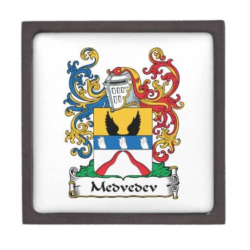 Escudo de la familia de Medvedev Cajas De Recuerdo De Calidad