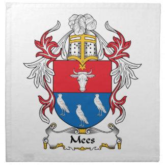 Escudo de la familia de Mees Servilleta De Papel