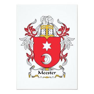 """Escudo de la familia de Meester Invitación 5"""" X 7"""""""