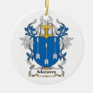Escudo de la familia de Meeuws Adorno Navideño Redondo De Cerámica