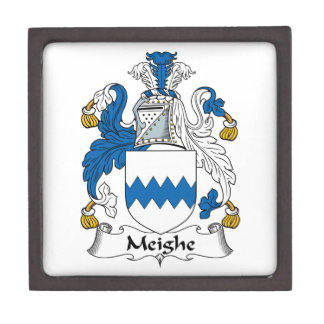 Escudo de la familia de Meighe Cajas De Joyas De Calidad