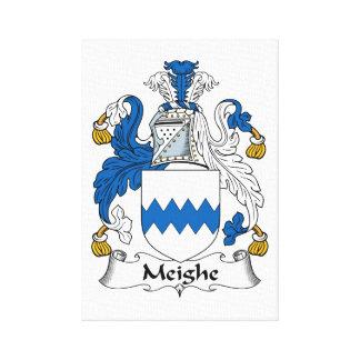 Escudo de la familia de Meighe Impresiones En Lona