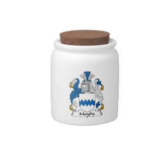 Escudo de la familia de Meighe Jarra Para Caramelo