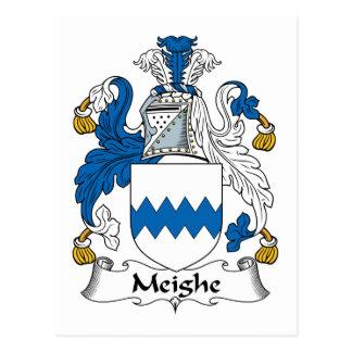 Escudo de la familia de Meighe Postal