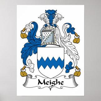 Escudo de la familia de Meighe Posters