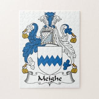 Escudo de la familia de Meighe Rompecabeza Con Fotos