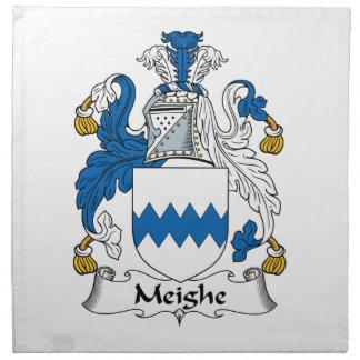 Escudo de la familia de Meighe Servilleta