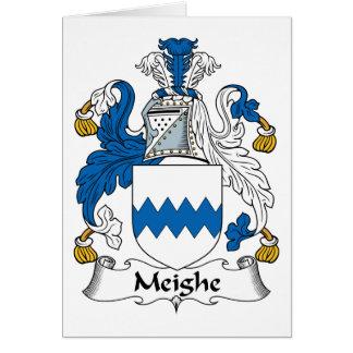 Escudo de la familia de Meighe Tarjeton