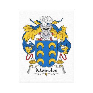 Escudo de la familia de Meireles Impresión En Lienzo