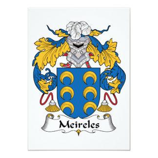 """Escudo de la familia de Meireles Invitación 5"""" X 7"""""""