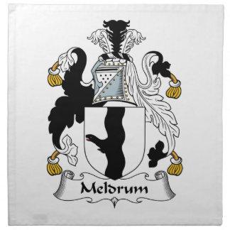 Escudo de la familia de Meldrum Servilleta Imprimida