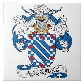 Escudo de la familia de Melendez Tejas Cerámicas