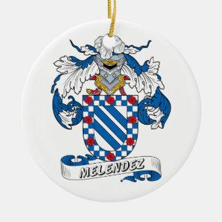 Escudo de la familia de Melendez Ornaments Para Arbol De Navidad