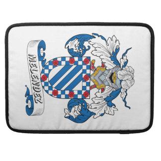 Escudo de la familia de Melendez Fundas Para Macbooks