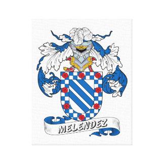 Escudo de la familia de Melendez Impresiones De Lienzo